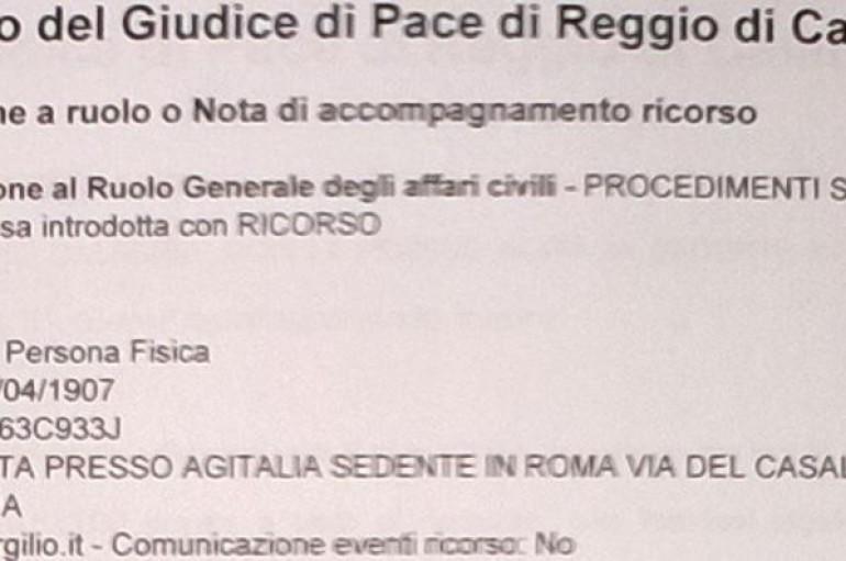 REGGIO CALABRIA – A 109 ANNI: TROVA UN BOT DA DUEMILA LIRE E TRASCINA DAVANTI AL GIUDICE LA BANCA D'ITALIA