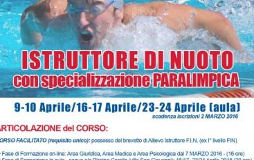 Vialla S. Giovanni (RC) – CORSO PER ISTRUTTORE NUOTO F.I.N.P