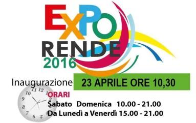 """Rende (CS): Giorno 23 si inaugura la Fiera Campionaria Nazionale """"EXPO Rende 2016"""""""