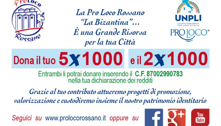 """Rossano (CS): DONA IL TUO 5X1000 e IL 2X1000 ALLA PRO LOCO """"LA BIZANTINA"""""""