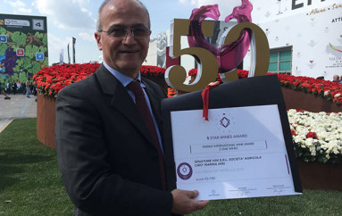 """Cirò Marina (KR): Il """"Nerello"""" vince il premio 5 Star Wines al concorso internazionale VINITALY"""