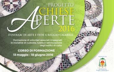 """Reggio Calabria: Dal 13 Maggio al 18 Giugno il progetto """"Chiese Aperte 2016"""""""