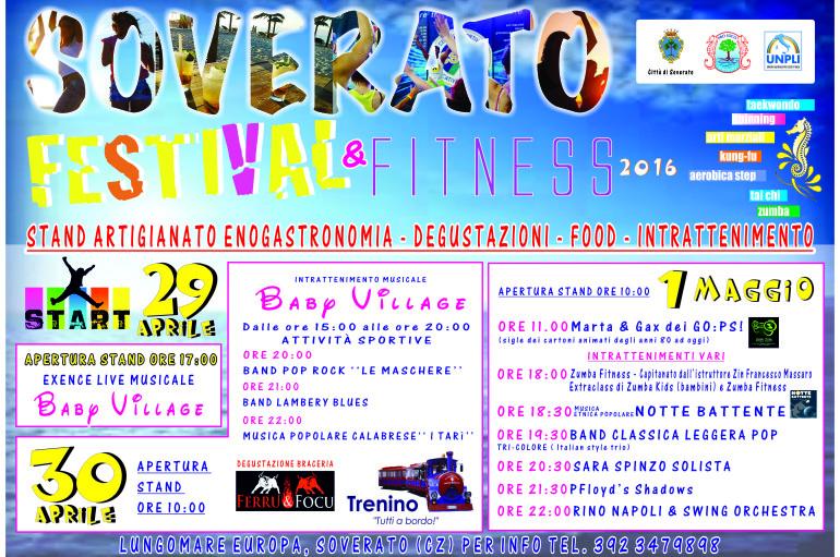 """Soverato (CZ): Dal 29 Aprile al 1° Maggio in programma il """"Festival & Fitness 2016"""""""