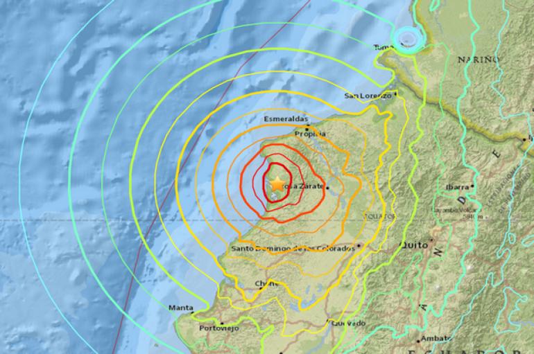 Dal Mondo – ECUADOR – Terremoto di Magnitudo 7.8 – Almeno 525 morti, oltre 2500 feriti