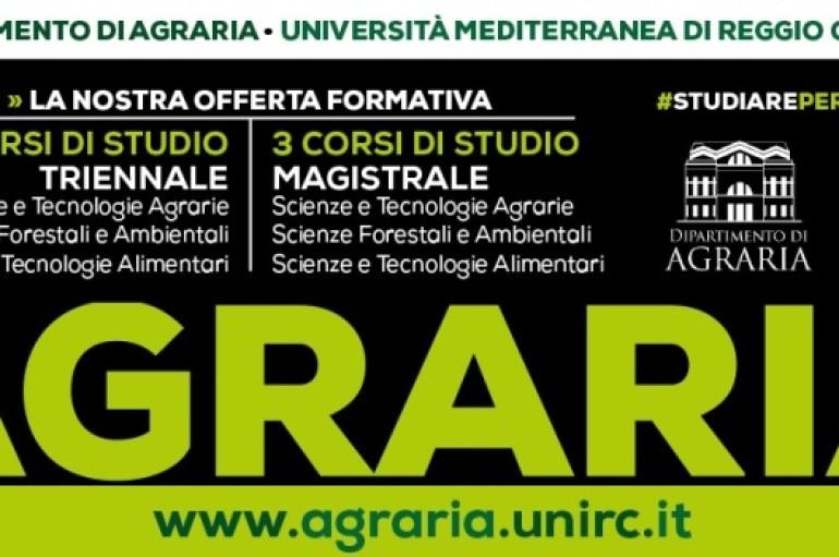 """Reggio Calabria: UNIRC, Dipartimento di Agaria – In arrivo """"Agraria Open Day"""""""