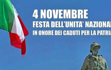Rossano (CS): Giorno 4 festività delle forze armate e commemorazione dei caduti per la patria