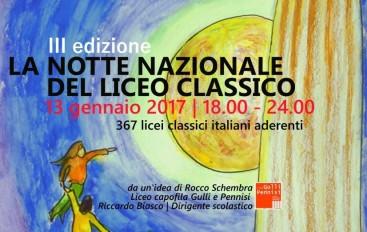 """Cosenza: Al via la III edizione de """"La Notte Nazionale del Liceo Classico"""""""