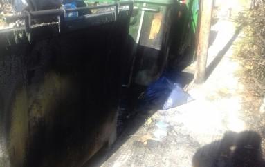 Un altro cassonetto incendiato a Cantinella