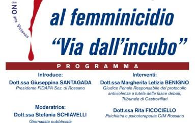 Dallo Stalking al femminicidio, incontro organizzato da Fidapa Rossano