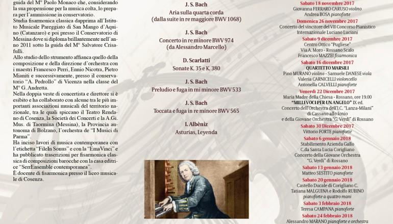 Rossano, un concerto per fisarmonica a la città della musica