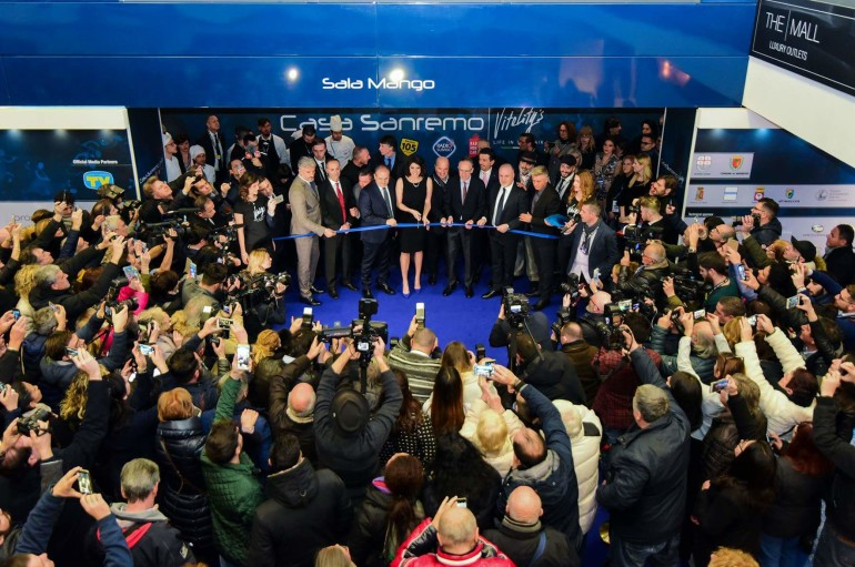 Sanremo 2018: Affidato inaugura Casa Sanremo con Elisa Isoardi e le autorità sanremesi