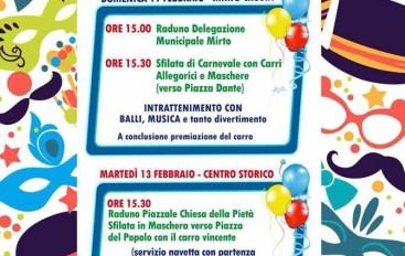 Crosia, tutto pronto per il Carnevale 2018